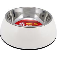 Dogit 2 in 1 Durable Dog Bowl White