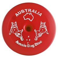 Aussie Dog Flying Disc - Frisbee - Red Tough